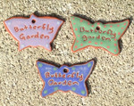 Terracotta Butterfly Garden Ornament/Garden Tag