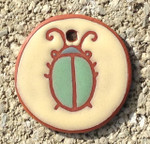 Terracotta Green Beetle Ornament/Garden Tag