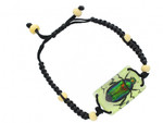 Glowing Scarab Beetle Bracelet