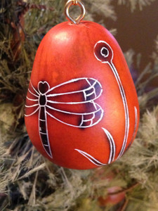 Dragonfly Mini Gourd Ornament