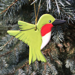 Handmade Ceramic Hummingbird Christmas Tree Ornament