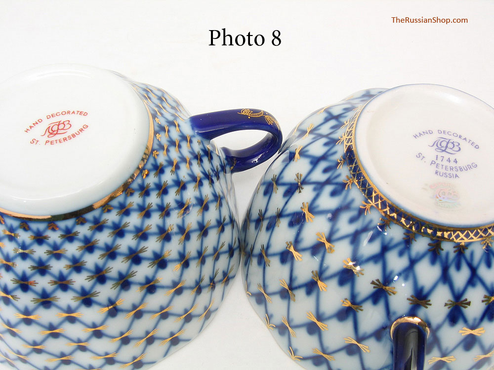 Some of the language in the descriptions include \ Lomonosov design\  \ Lomonosov ornament\  \ Royalty Porcelain\  followed \ Lomonosov\  \ Imperial Russia by ... & Is it Genuine Cobalt Net? Lomonosov Cobalt Net is Compared with Fake ...