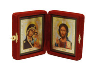 Christ Pantocrator and the Virgin of Kazan Diptych Icon