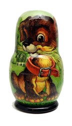 Kolobok (Little Round Bun) Matryoshka Doll