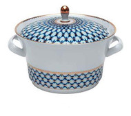 Cobalt Net Covered Soup Tureen