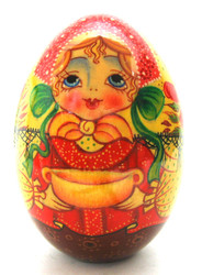 Easter Egg Young Girl with a Golden Bowl (Молодая девушка с золотой чашей) front view
