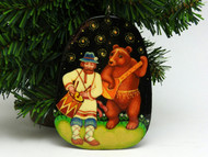 Russian Painted Christmas Ornament *Musicians