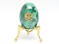 Imperial Russian Eagle Malachite Egg
