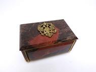 Red Jasper Russian Eagle Jewelry Box