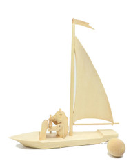 Misha the Bear in a sailing dinghy Bogorodsk Toy