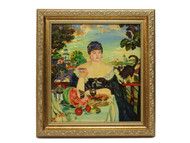 Merchant's Wife at Tea [Kustodiev] Genuine Painting