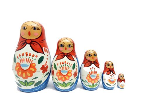 Vintage Shawl Maiden Matryoshka Nesting Doll