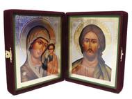 Christ Pantocrator and Kazanskaya Virgin Diptych Icon