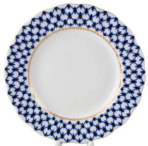 """Cobalt Net Large """"Tulip"""" Dinner Plate"""