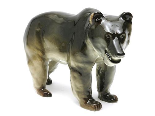 Russian Brown Bear Lomonosov Porcelain Figure