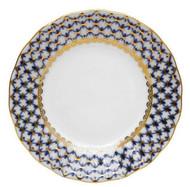 Cobalt Net Flat Salad Plate