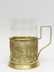 Uncommon Gilded Filigree Tea Glass Holder