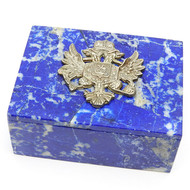 Imperial Russian Eagle Royal Blue Keepsake Box
