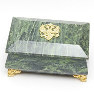 Imperial Russian Eagle Serpentine Jewelry Box