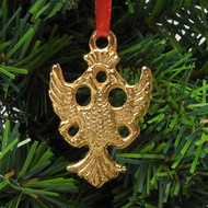 Byzantine Double Headed Eagle Christmas Ornament
