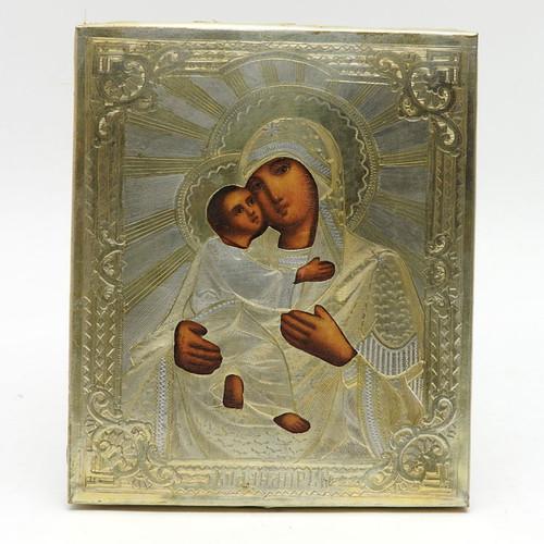 Vladimir Mother of God Antique Russian Orthodox Icon