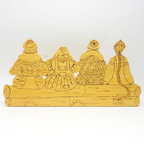Playroom Wall Decor Seated Friends - The Russian Gift Shop