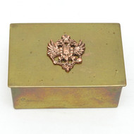 Small Brass Eagle Box