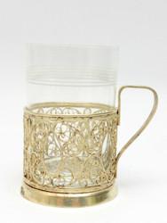 Vintage Filigree Tea Glass Holder