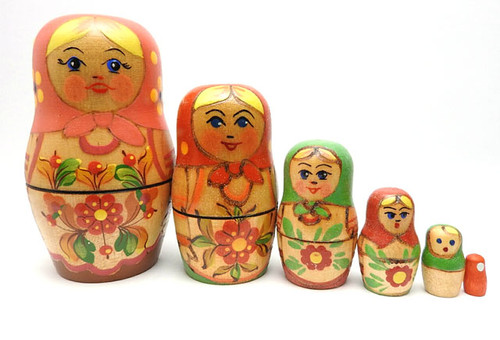 """Little Cutie"" Nesting Matryoshka Dolls"