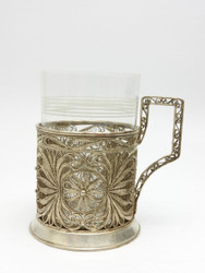 Vintage mid-century Kazakovo Tea Glass Holder