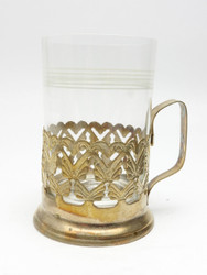 Vintage Metal Tea Glass Holder from Poland