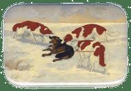 Painting Borzois Hunt