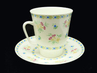 Blue Bells Bone China Tea Cup and Saucer