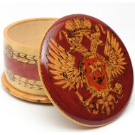Pokerwork Double Headed Eagle Keepsake Box