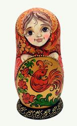 Khokhloma Maidens Artistic Matryoshka Doll