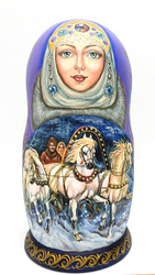 Winter Troikas (Зимние тройки) Artistic Matryoshka Doll