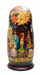 Sun and Moon Magic Pike Artistic Matryoshka Doll  First Doll