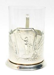 "Tea glass holder ""To the Stars!"" (""К звёздам!"")"