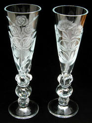 """Wedding Rings"" Sparkling Wine or Champagne Flutes"
