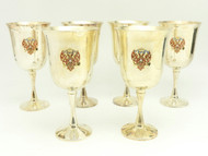 Water Goblets Russian Double Headed Eagle  - IRAA