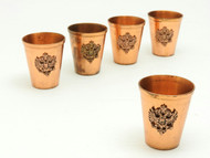 Copper Vodka Shots with Russian Double Headed Eagle - IRAA