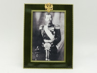 Tsar Nicholas Portrait Deep Green Faberge Frame