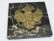 Bronze Table Medal Imperial Russian Eagle