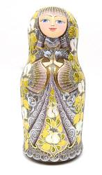 """Golden Lilac"" Artistic Matryoshka by Filatova"