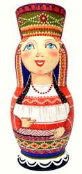 Russian National Costume Art Matryoshka Doll