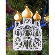 "Hand Made Filigree Christmas Ornament """"St. Basil's"" (Собор Василия Блаженного)"