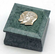 Father and Son Ural Mountain Marble Cuff Link Jewelry Box