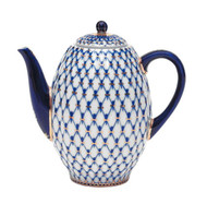 Cobalt Net Coffee Pot