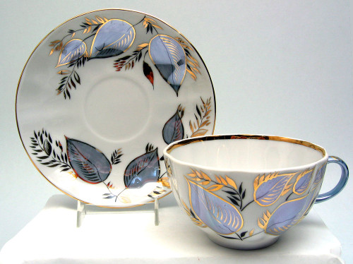 Another view of Moonlight Tea Cup and Saucer from Lomonosov Porcelain