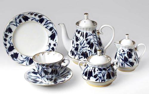 Blue Bells 21-piece Tea Set